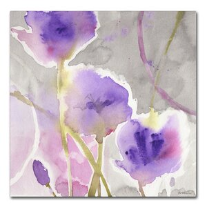 'Deep Purple' by Sheila Golden Painting Print on Wrapped Canvas by Trademark Fine Art