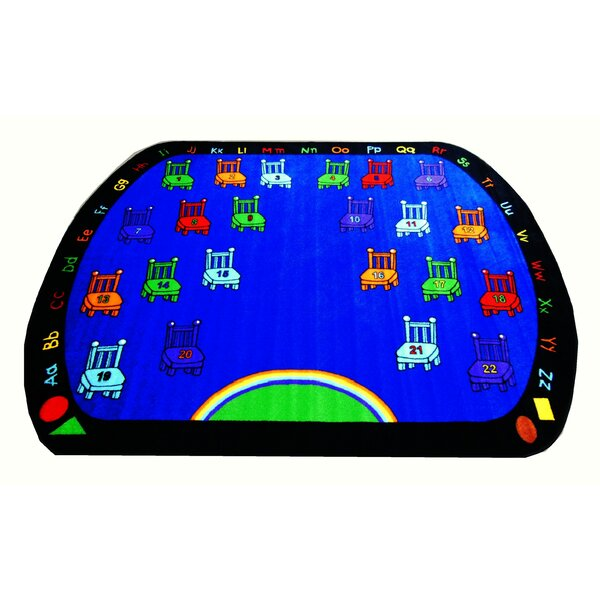 Chairs Blue Area Rug by Kids World Carpets