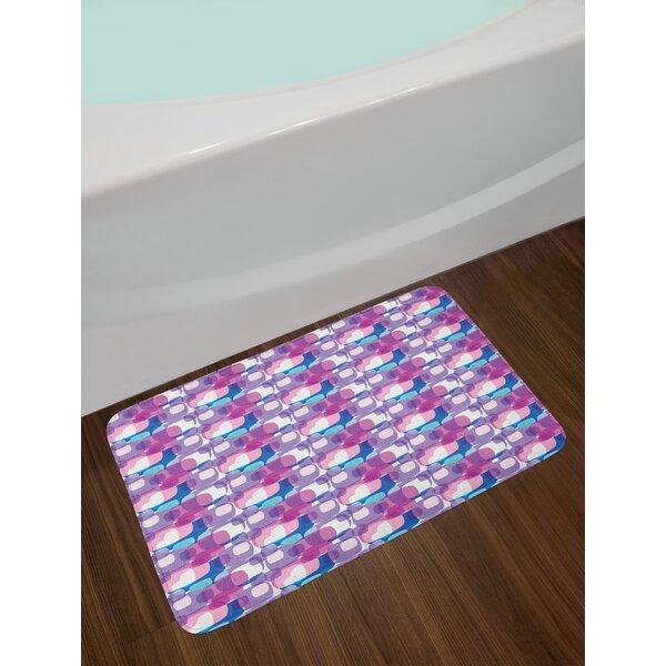 Digital Pastel Geometric Bath Rug by East Urban Home