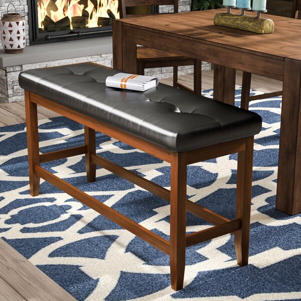 Lecroy Wood Bench by Millwood Pines Millwood Pines
