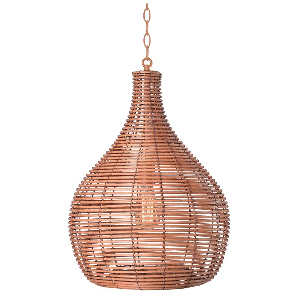 Glover 1-Light Teardrop Pendant by Bay Isle Home