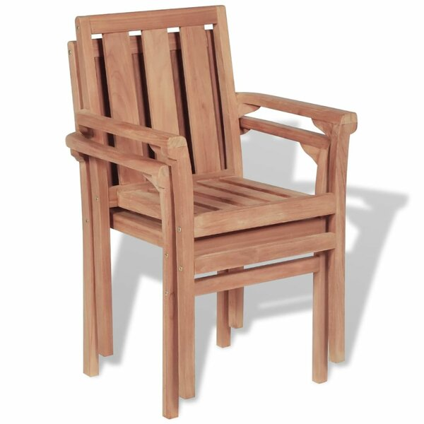 Feltonville Stacking Patio Dining Chair (Set of 2) by Highland Dunes Highland Dunes