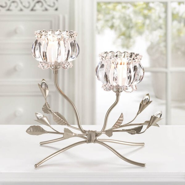 Iron and Glass Candelabra by Zingz & Thingz