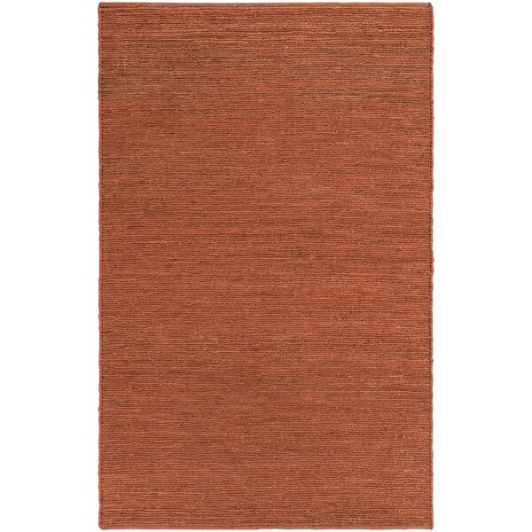 Zellers Hand-Woven Brick Red Area Rug by George Oliver