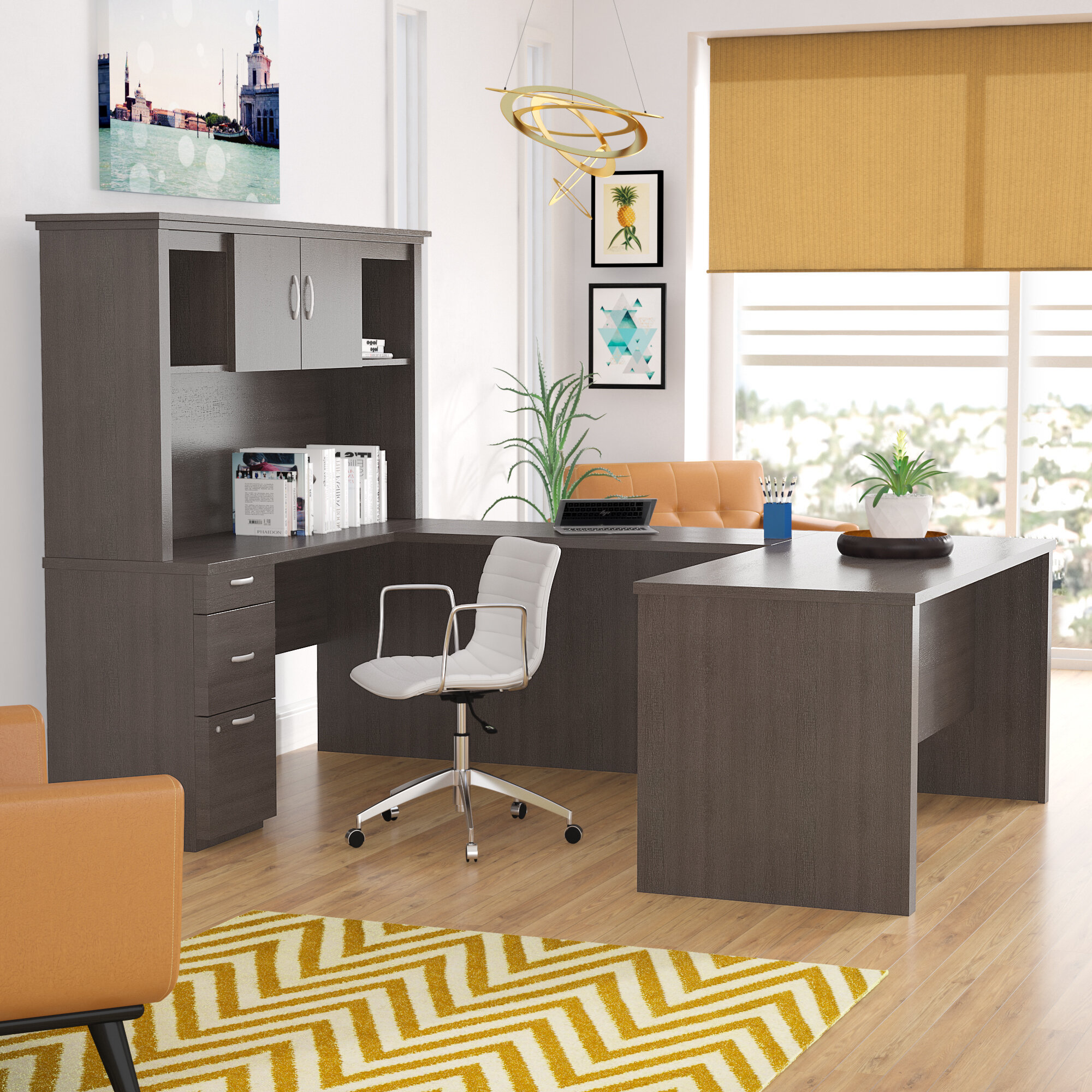 Pratyush Reversible U-Shape Executive Desk