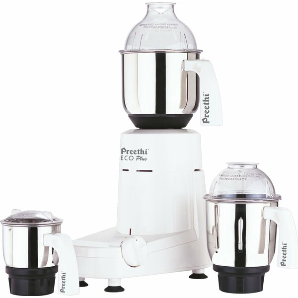 Eco Plus 550 Watts 3 Jar Mixer Grinder by Preethi