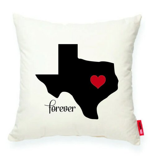 Expressive Heart Texas Decorative Cotton Throw Pillow by Posh365