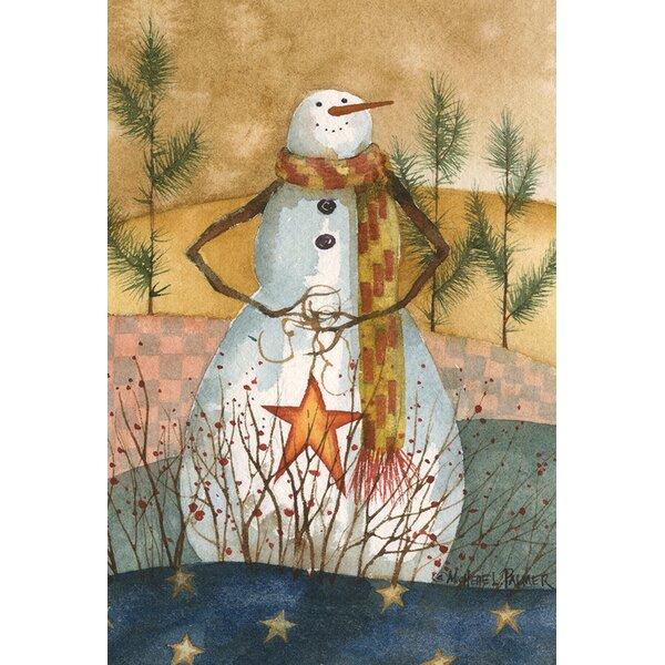 Americana Snowman Garden flag by Toland Home Garden