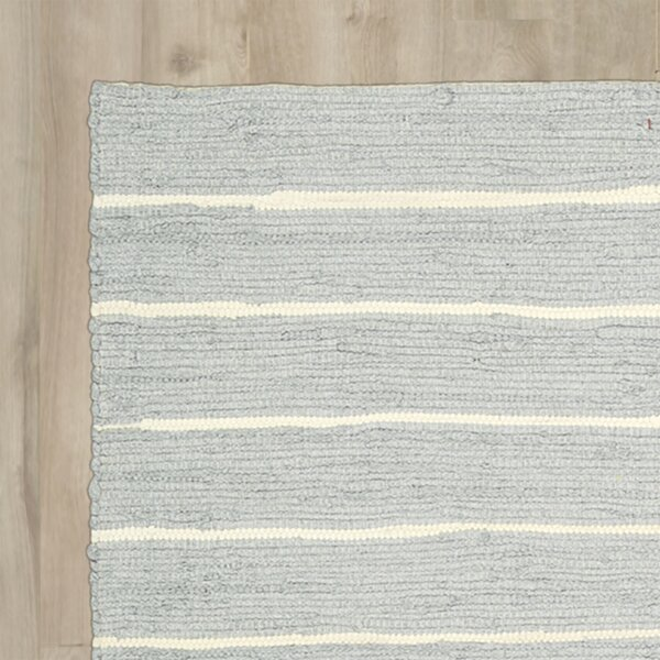 Gwyneth Hand-Woven Light Gray Area Rug by Highland Dunes