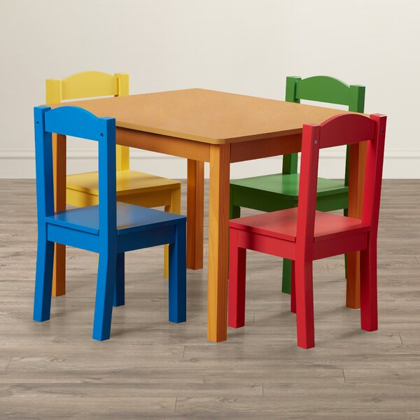 Tatianna Kids 5 Piece Table and Chair Set by Viv + Rae