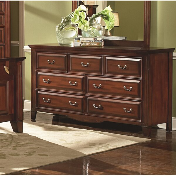 Hoisington 7 Drawer Double Dresser by Alcott Hill