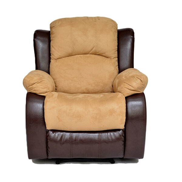 Traditional 2 Tone Manual Recliner by Madison Home