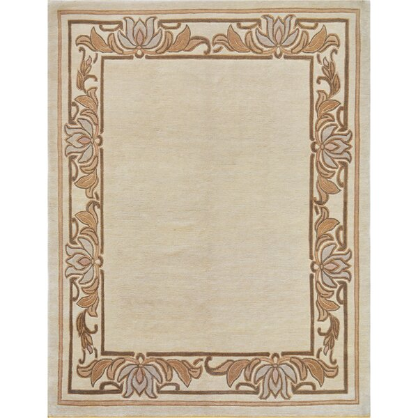 One-of-a-Kind Tibetan Fine Hand-Knotted Wool Ivory Indoor Area Rug by Mansour