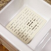 Large Twin Sink Mat in Bisque by Rubbermaid