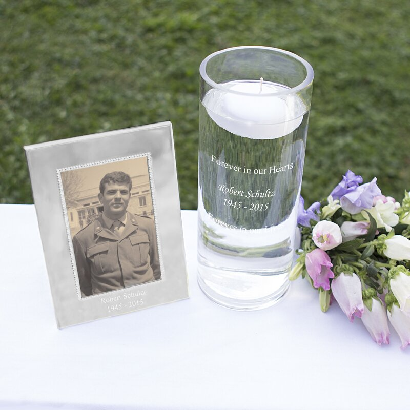 Cathys Concepts Memorial Floating Candle and Frame Set | Wayfair