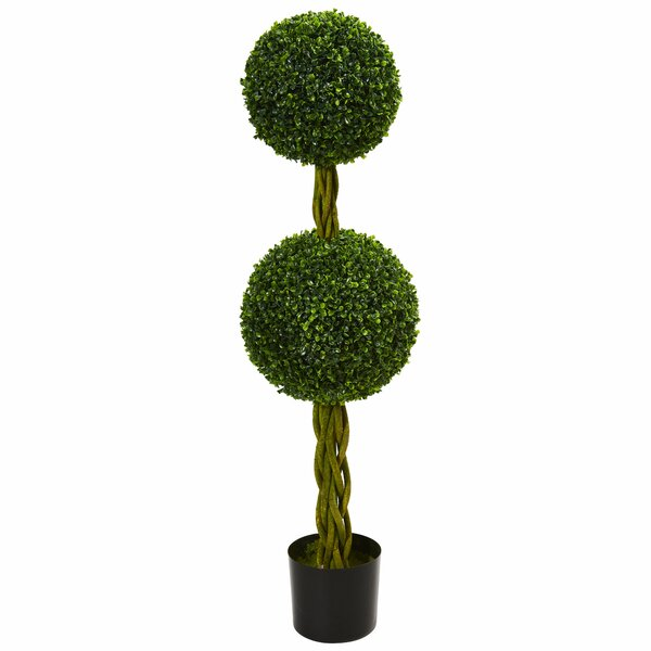 Double Ball Boxwood Topiary by Fleur De Lis Living