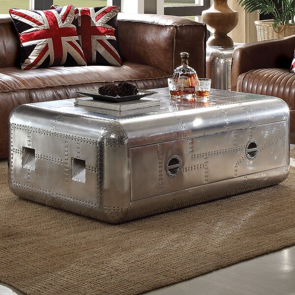 Annessia Coffee Table with Trunk by 17 Stories