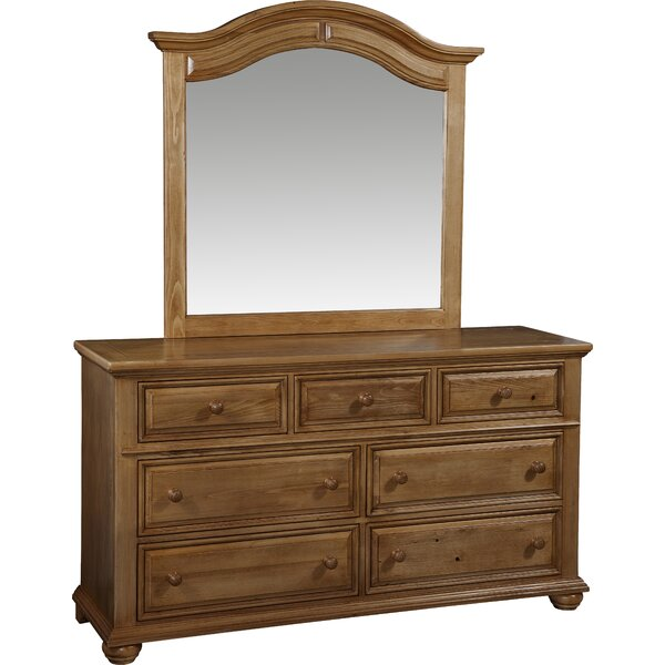 Becnel 7 Drawer Double Dresser with Mirror by Alcott Hill
