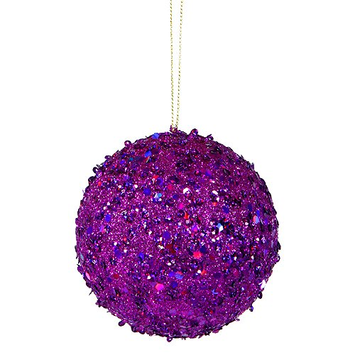 Holographic Glitter Drenched Christmas Ball Ornament by Willa Arlo Interiors