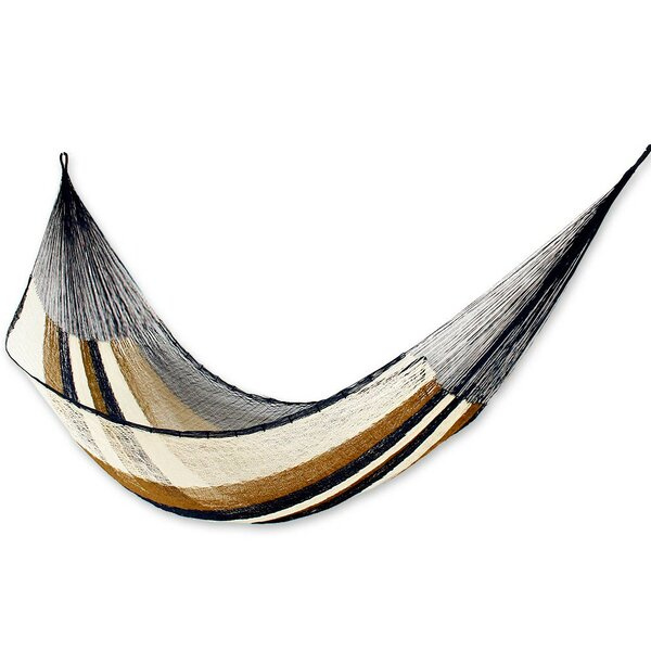 Single Person Easy Travel Hand-Woven Mayan Artists of the Yucatan Nylon With Accessories Included Camping or Outdoor Hammock by Novica