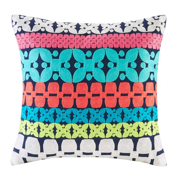 Mix and Match Embroidery Cotton Throw Pillow by Josie by Natori