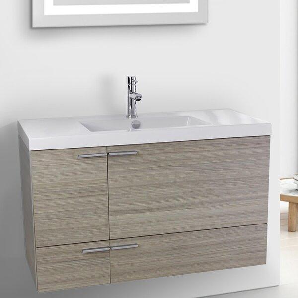 Letourneau 39 Wall-Mounted Single Bathroom Vanity Set