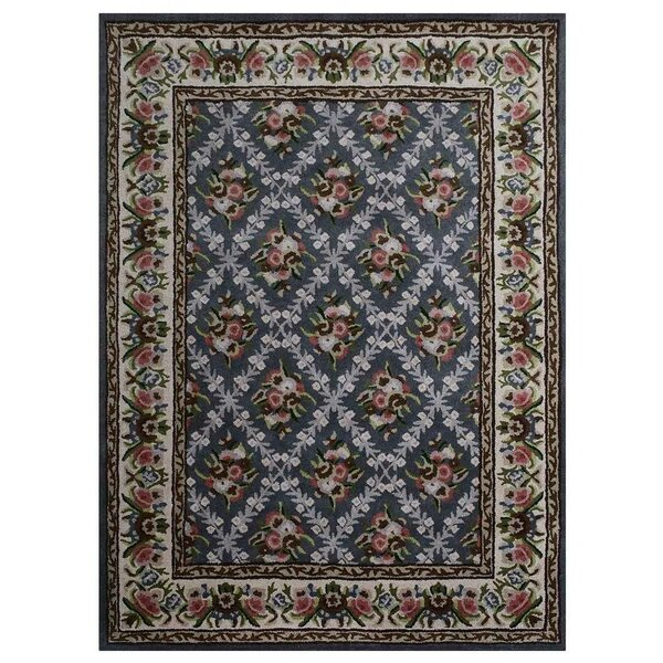 Knecht Hand-Tufted Wool Blue/Beige Area Rug by Alcott Hill