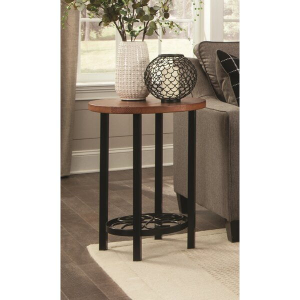 Carrollton Scrollwork Round End Table by Loon Peak