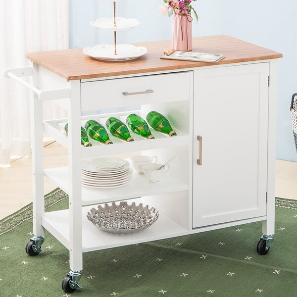 Sherrill Kitchen Cart by August Grove