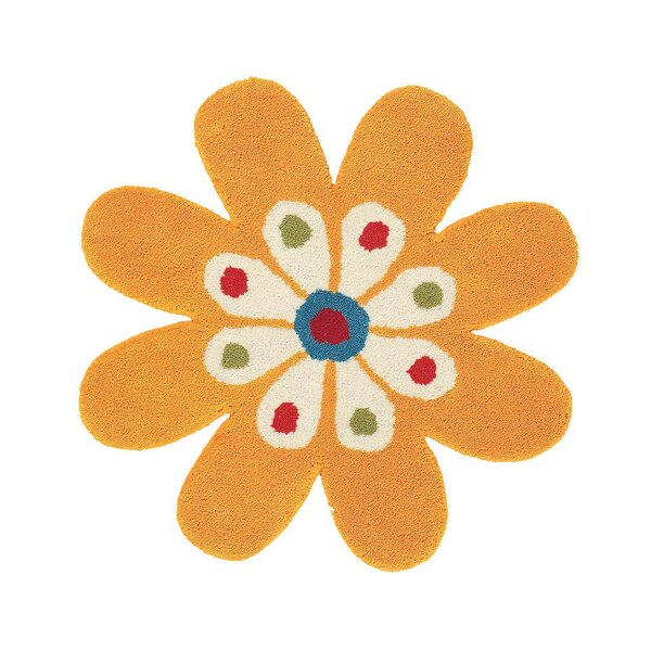 Fantasia Hand-Tufted Wool Yellow Flower Area Rug by Dynamic Rugs