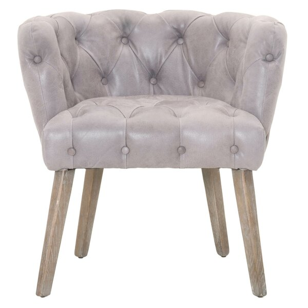 Claude Genuine Leather Upholstered Dining Chair by One Allium Way