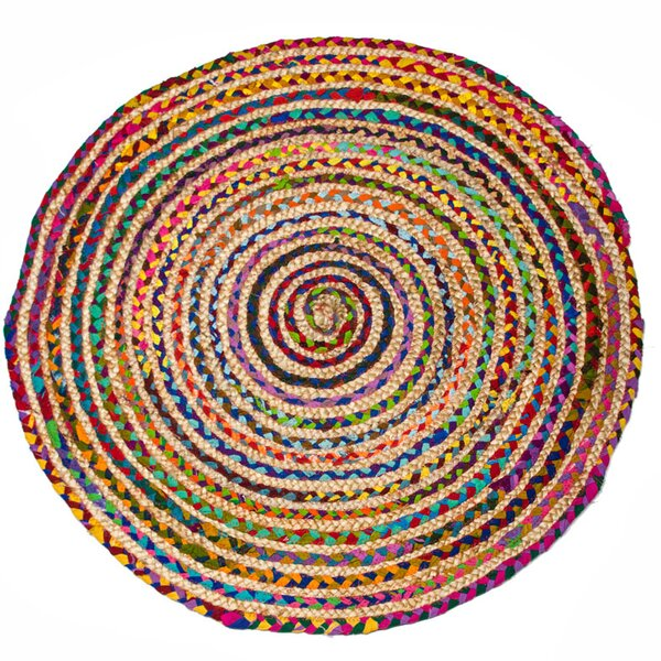 Stained Hand-Woven Strawberry Ice Area Rug by CLM