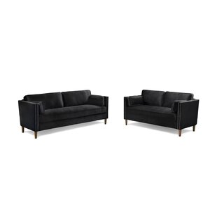 Pearce 2 Piece Standard Living Room Set by Everly Quinn