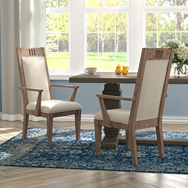 Ariel Upholstered Dining Arm Chair (Set of 2) by Gracie Oaks