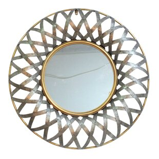Bungalow Rose Rustic Metal Accent Wall Mirror
