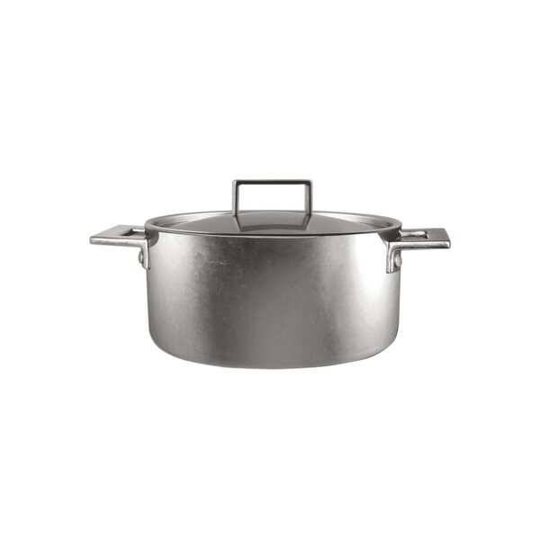 Attiva Casserole Pewter Soup Pot with Lid by MEPRA