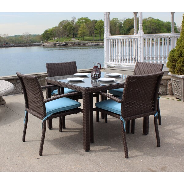 Vandewa 5 Piece Dining Set by Rosecliff Heights