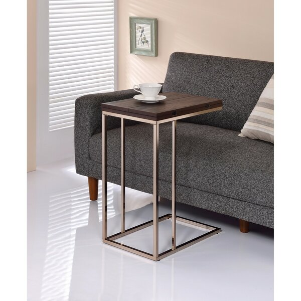 Darley Brown Wooden Top Snack End Table by Wrought Studio Wrought Studio