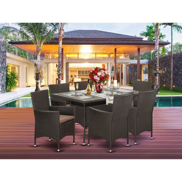 Axl Backyard 7 Piece Dining Set with Cushions by Brayden Studio