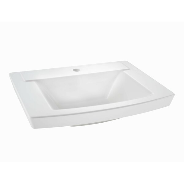 Townsend  24 Pedestal Bathroom Sink with Overflow