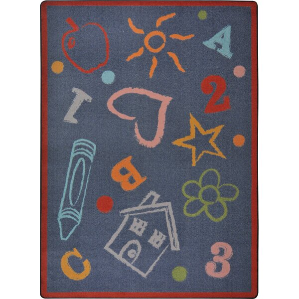 Hand-Tufled Gray Kids Rug by The Conestoga Trading Co.