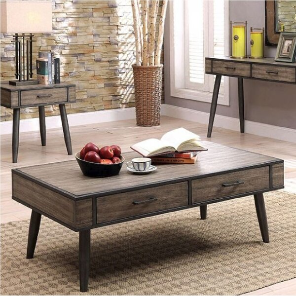 Hattie 3 Piece Coffee Table Set by Union Rustic
