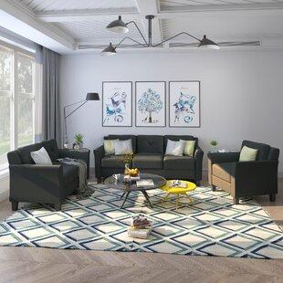 Silvie 3 Piece Living Room Set by Red Barrel Studio®