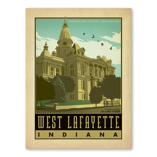 West Lafayette Vintage Advertisement by Americanflat