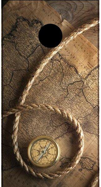 Pirates Compass Cornhole Board by Lightning Cornhole