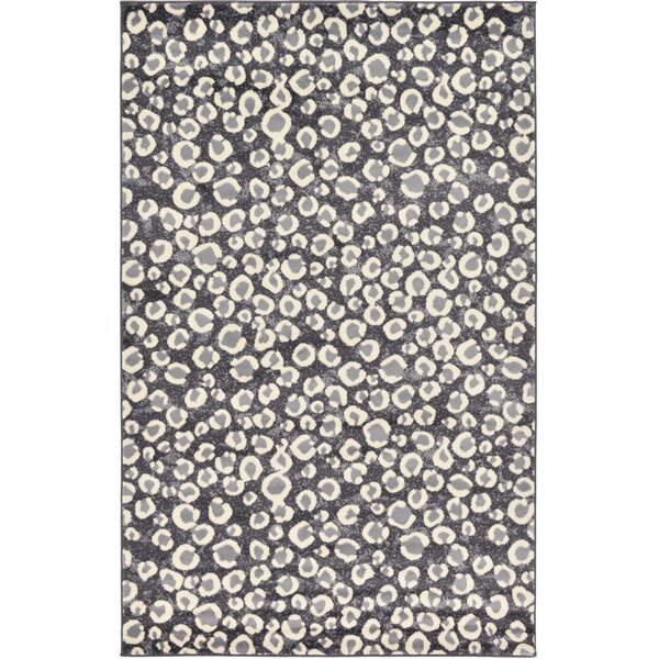 Leif Dark Gray Area Rug by World Menagerie