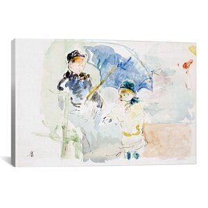 'At the Beach' by Berthe Morisot Painting Print on Canvas by iCanvas