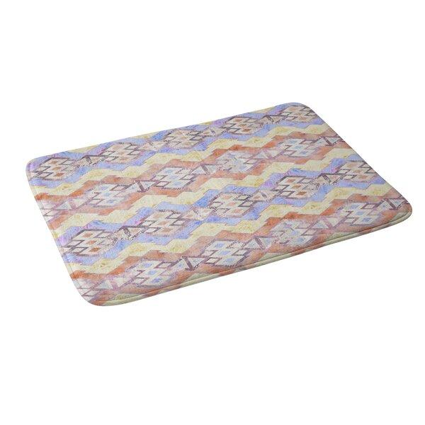 Schatzi Kilim Kind Stripe Peach Geometric Bath Rug