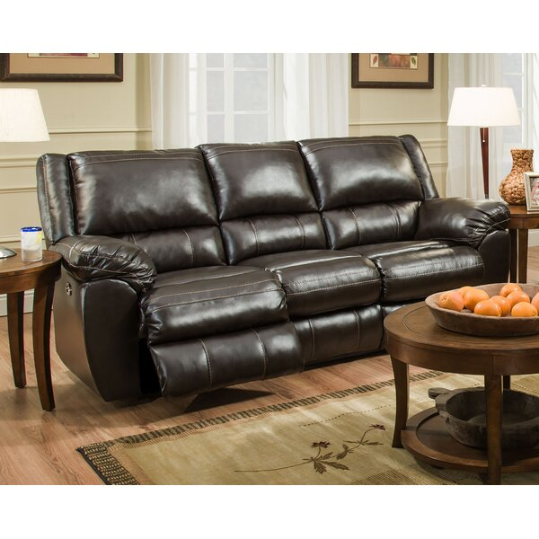 New Trendy Simmons Upholstery Tellez Motion Reclining Sofa by Williston Forge by Williston Forge