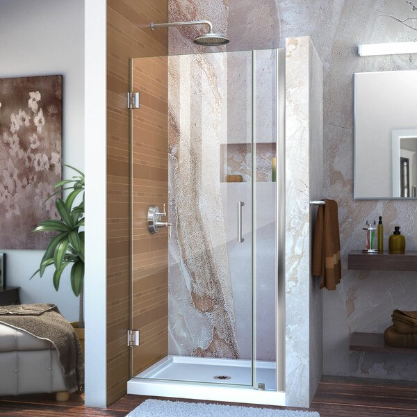 Unidoor 0 x 72 Hinged Frameless Shower Door with Clearmax™ Technology by DreamLine